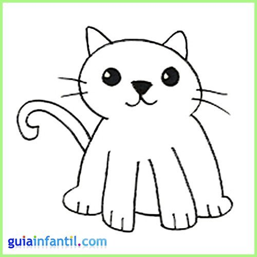 Dibujos de animales de la granja. Dibujo de un gato