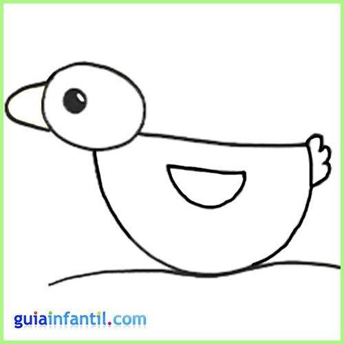 Dibuja un pato con los niños. Dibuja los animales de la granja