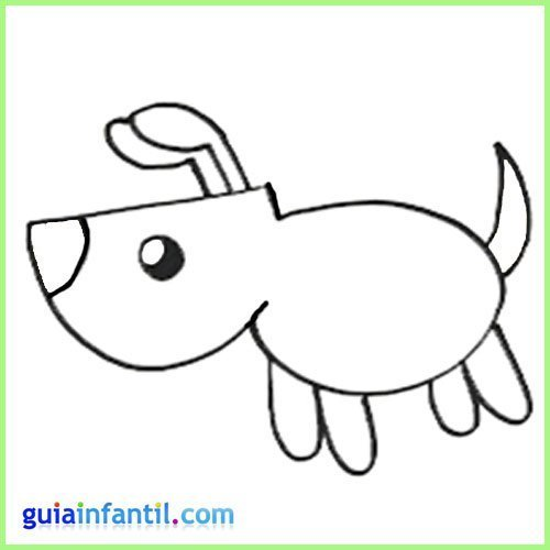 Aprende a dibujar animales. Dibujo de un perro