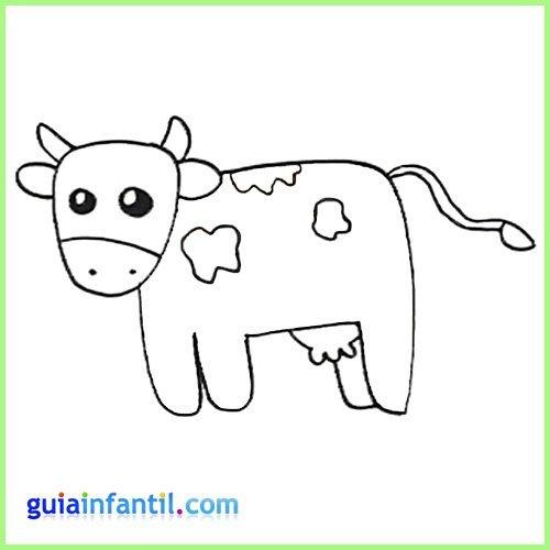 Dibujo de una vaca para imprimir y colorear con los niños ...