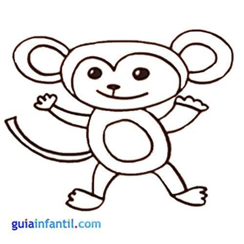 Mono Para Colorear Con Niños Animales De La Jungla Para Imprimir