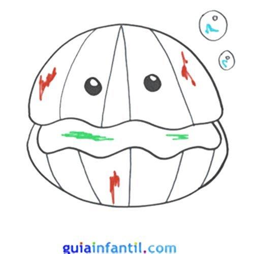 Aprende a dibujar una ostra. Animales marinos para hacer con niños