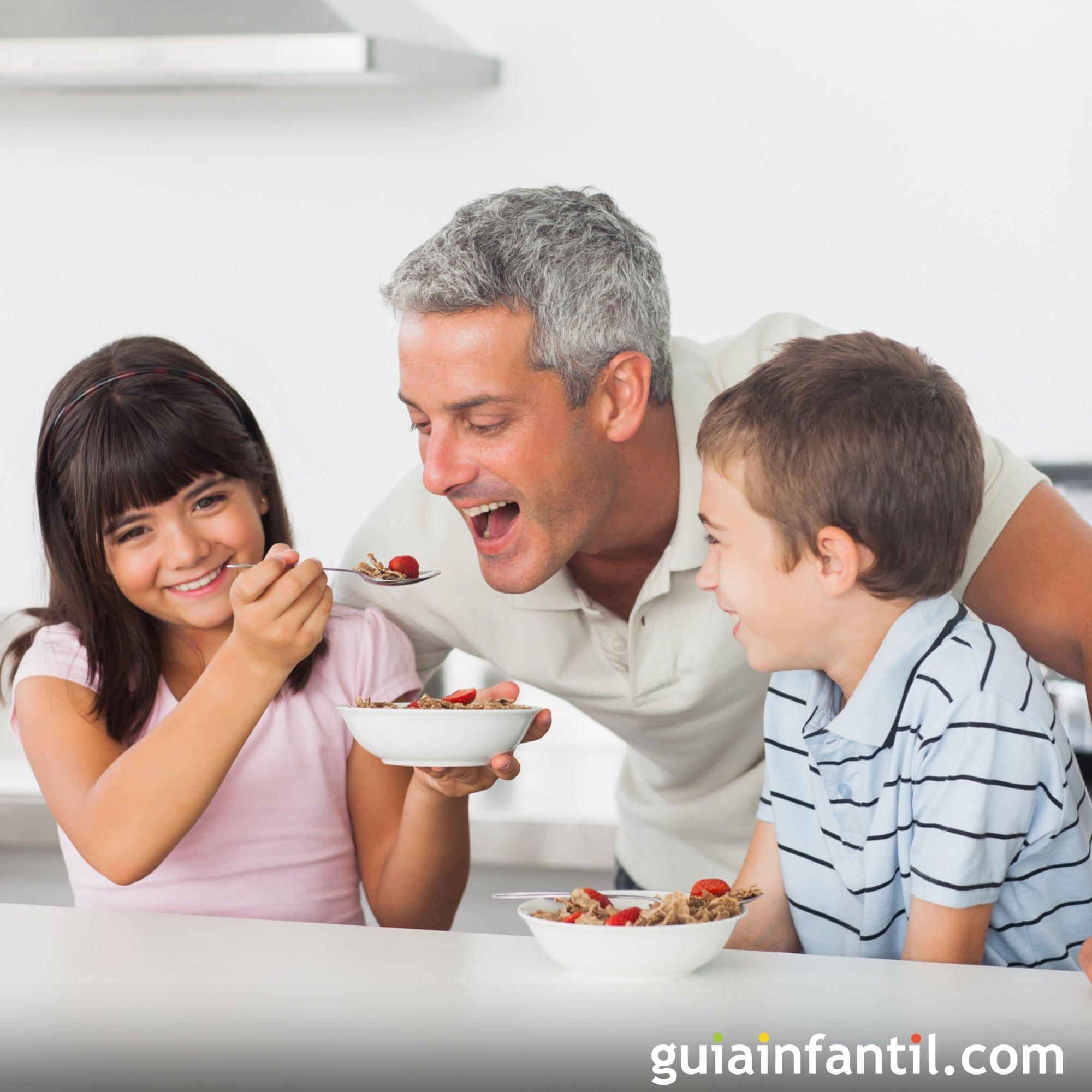 Jugar a que papá se come toda la comida
