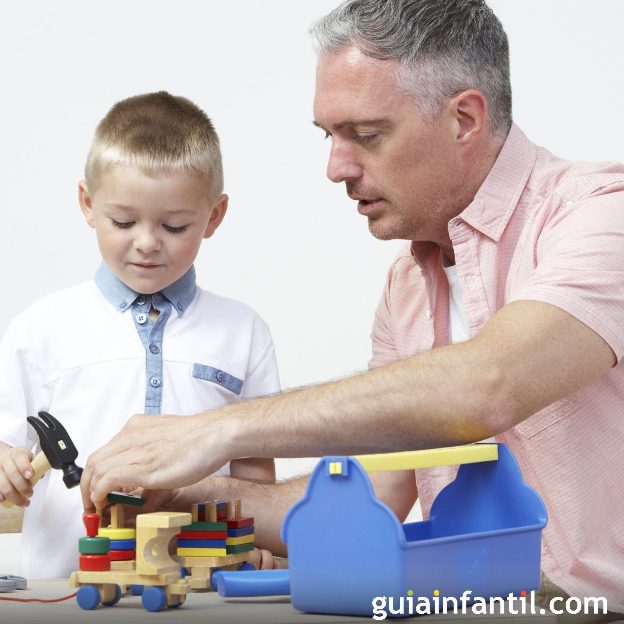 Jugar con papá a las construcciones