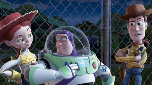 Woody y Buzz Lightyear en Toy Story 3