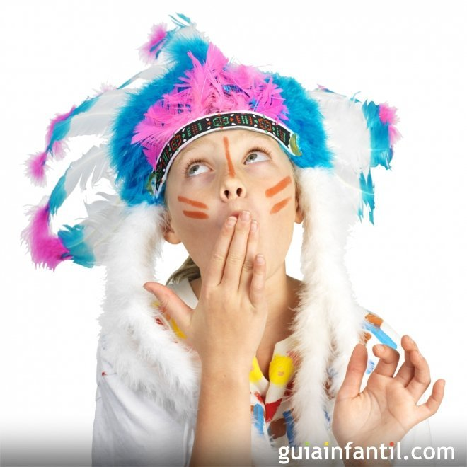 Disfraz de índia para niñas