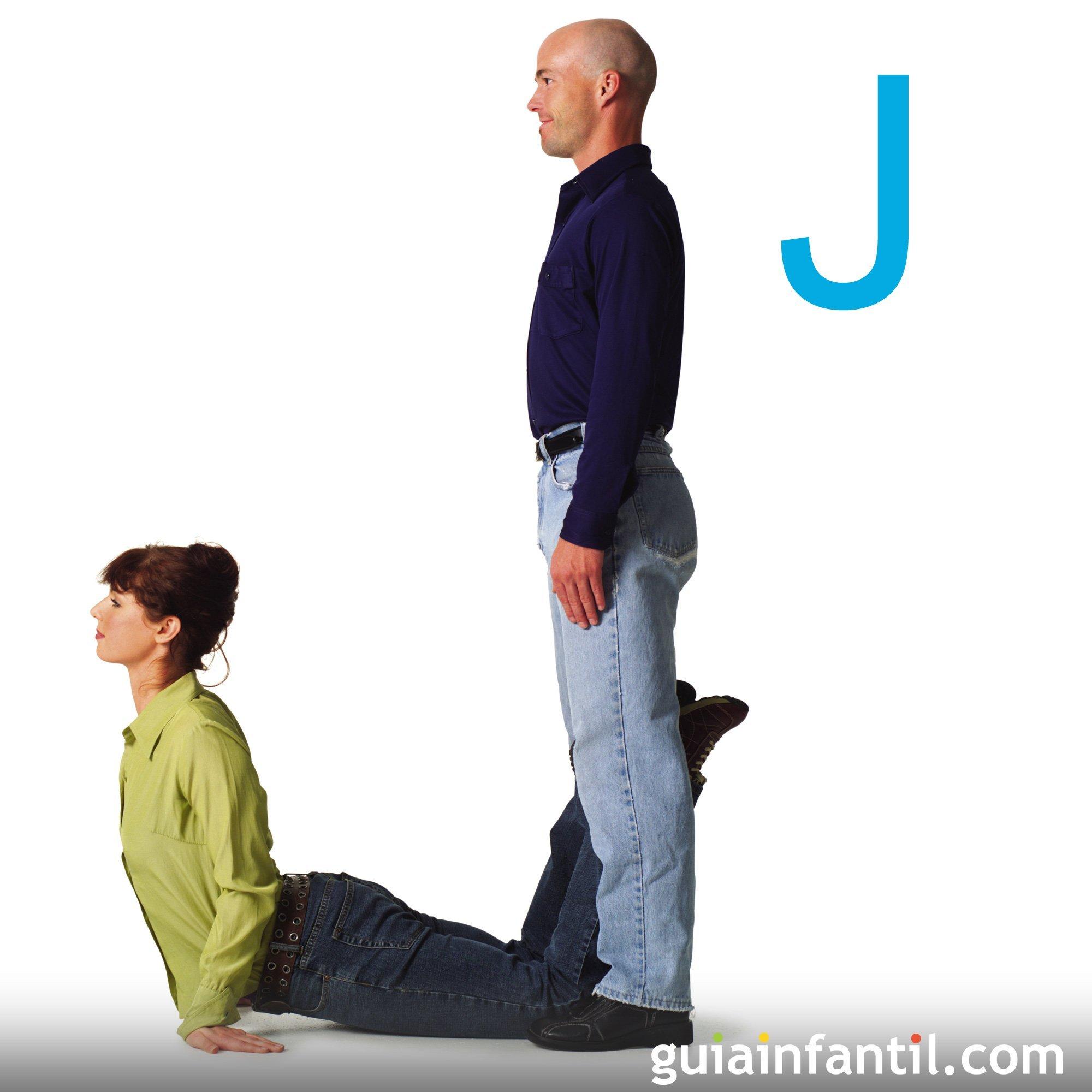 Cómo hacer la letra J con el cuerpo