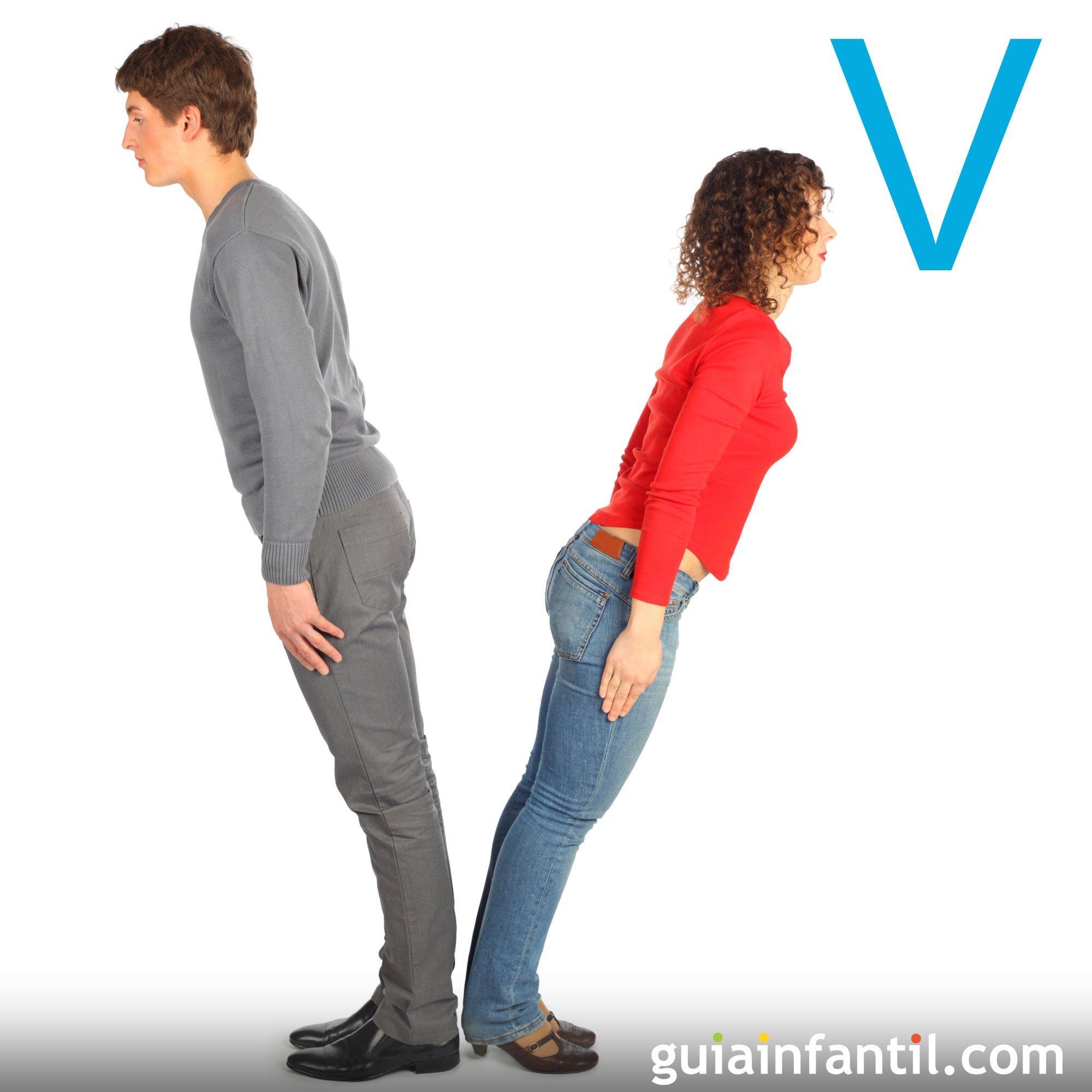 Cómo hacer la letra V con el cuerpo