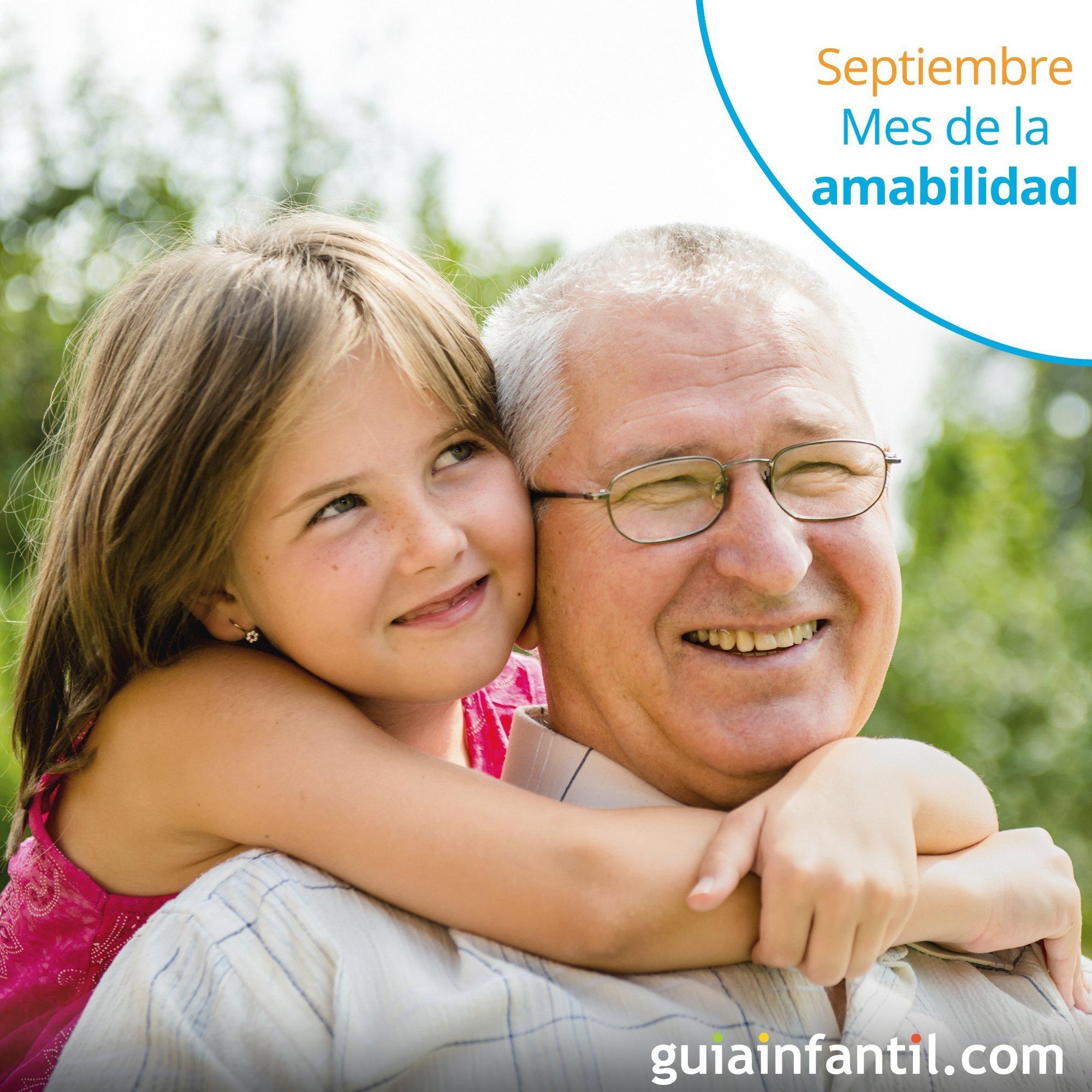 Calendario de valores del mes de septiembre. Amabilidad