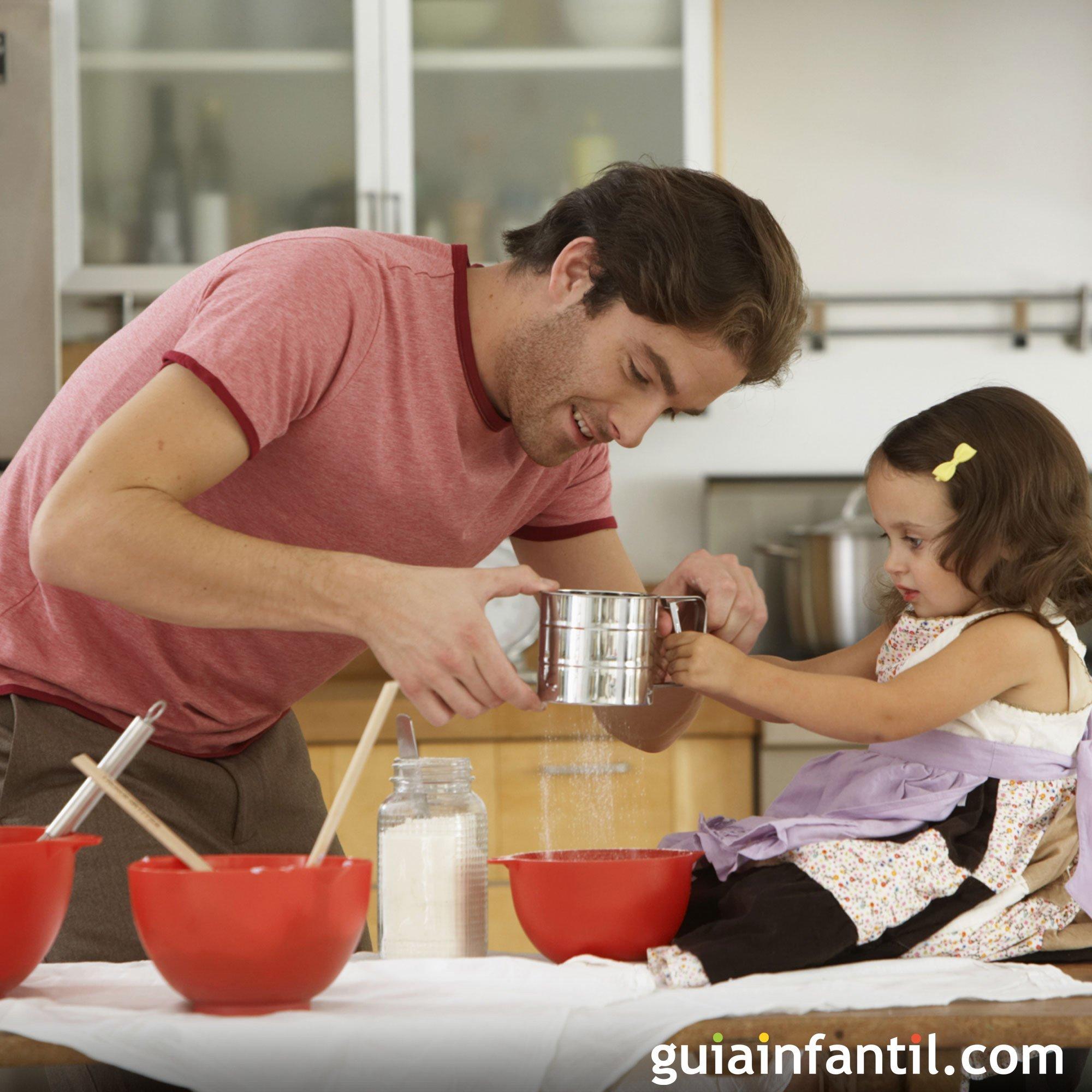 Jugar a cocinar con papá