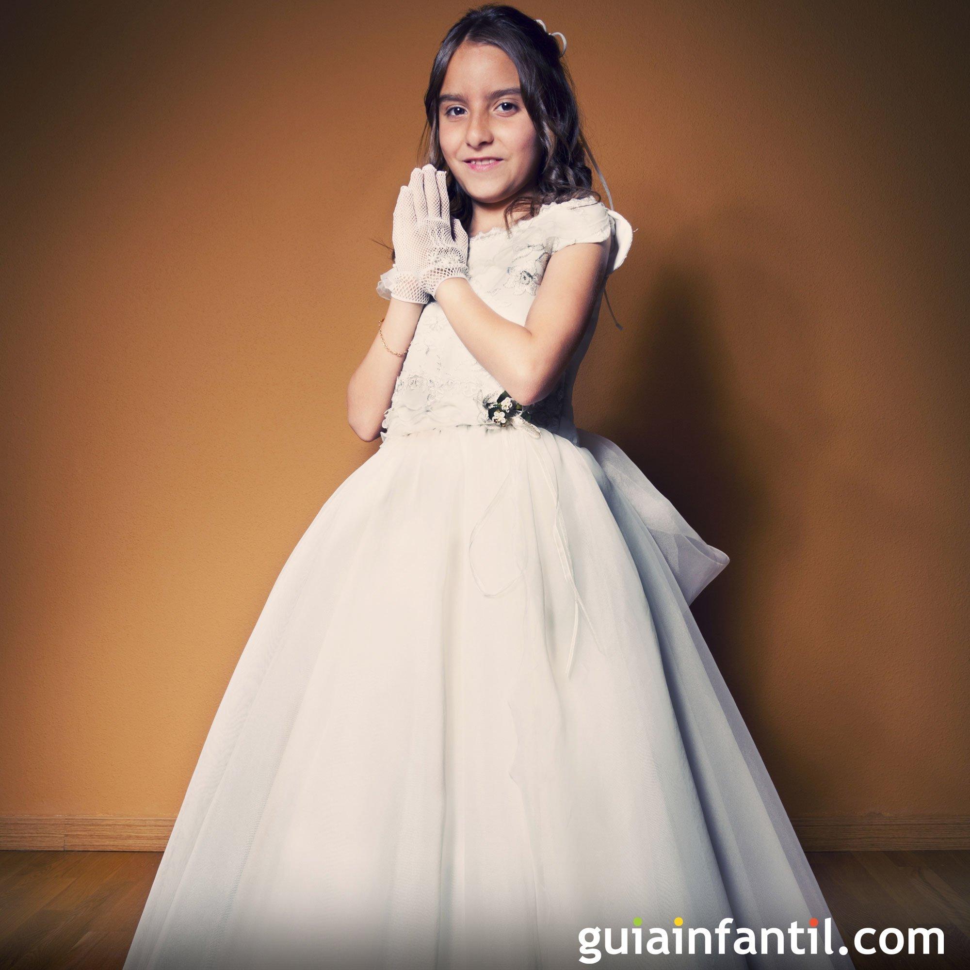 Vestido de comunión de corte princesa