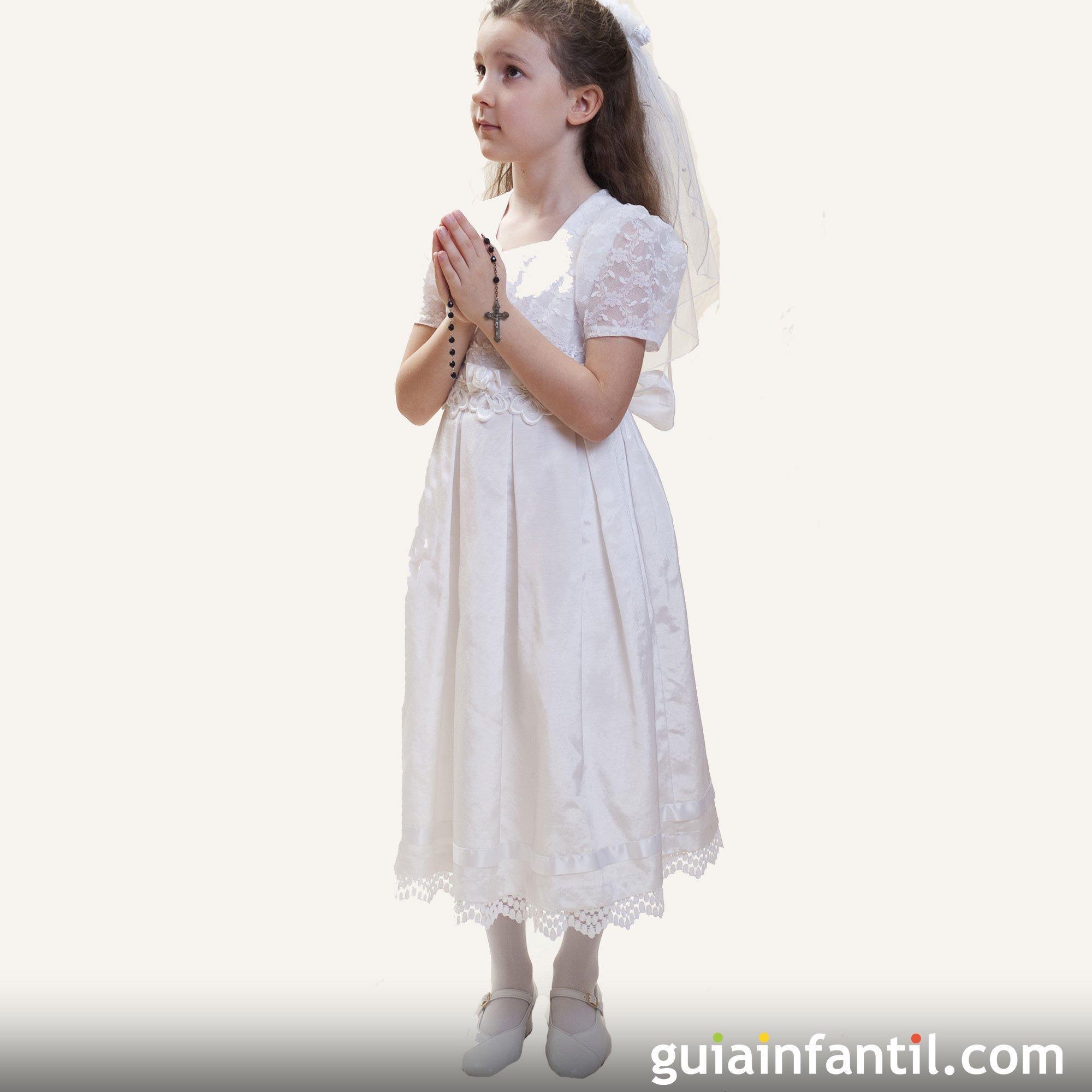 Vestido tradicional de comunión para niñas