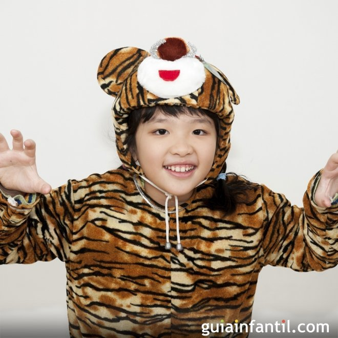 Disfraz de tigresa para niñas