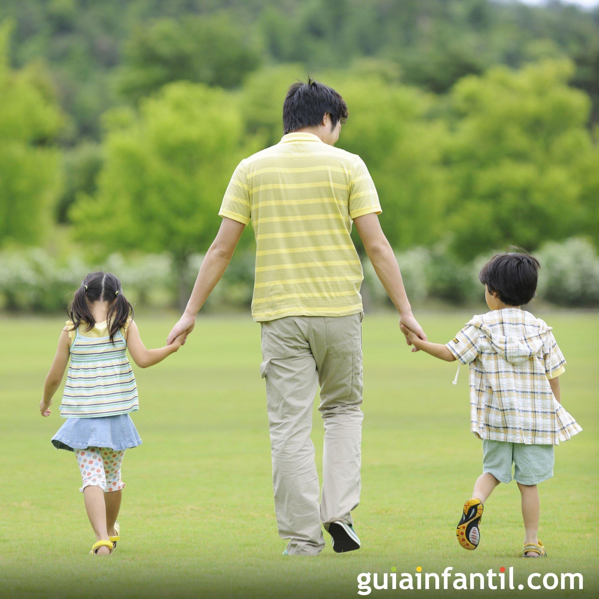 Un paseo en familia. Fotos para papá