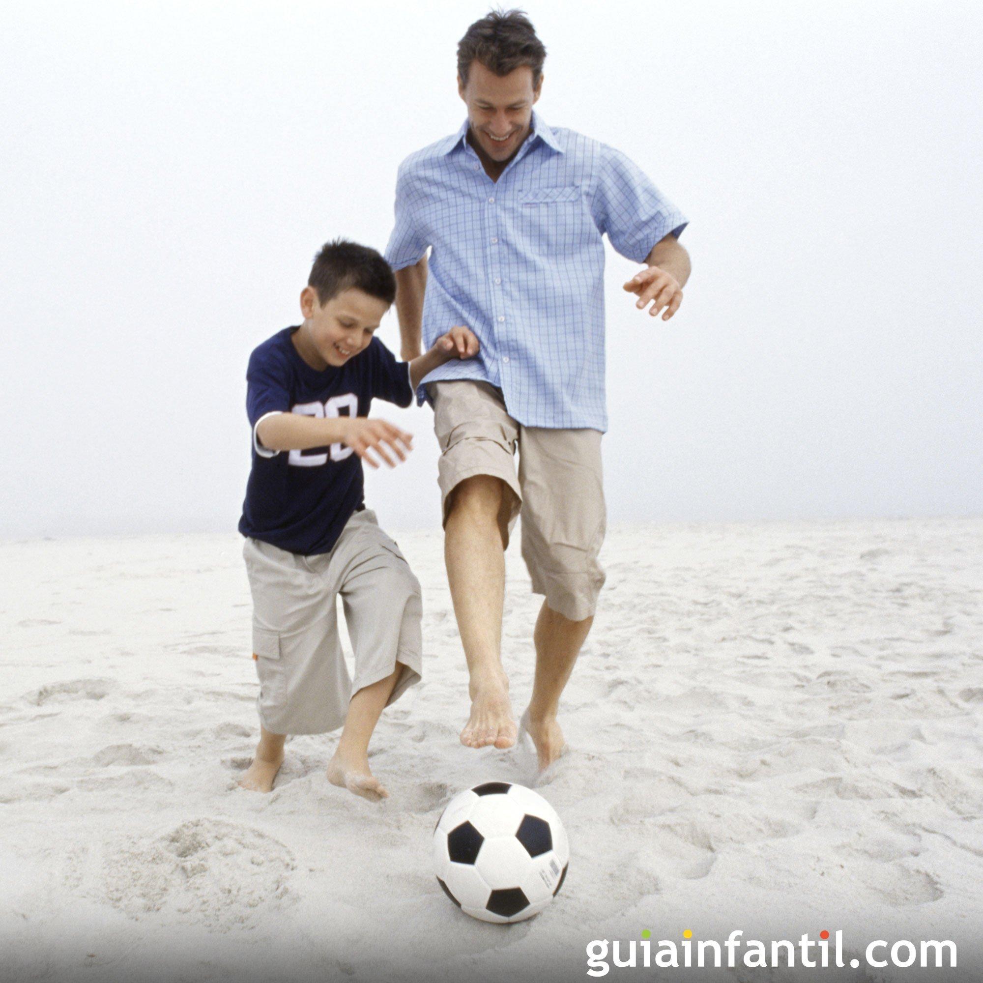 Un partido con papá. Fotos deportivas en familia