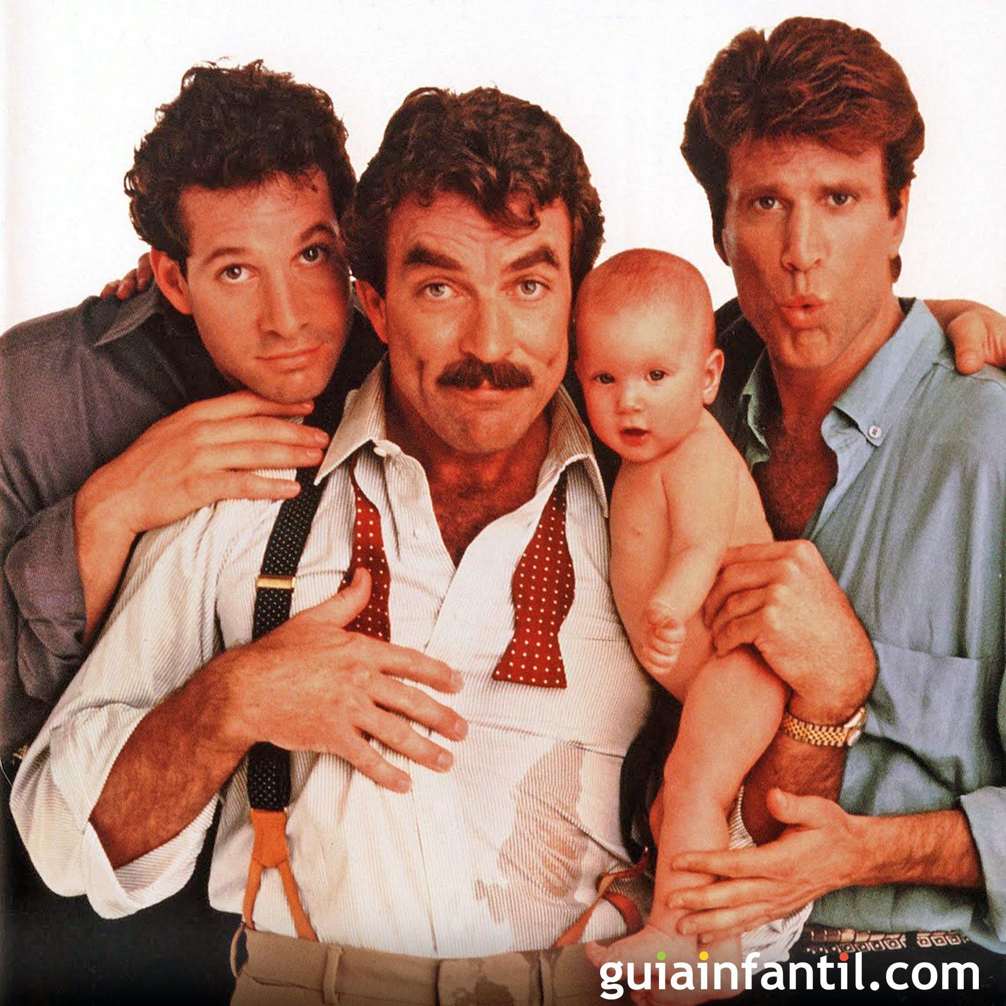 Tres hombres y un bebé. Comedia de padres