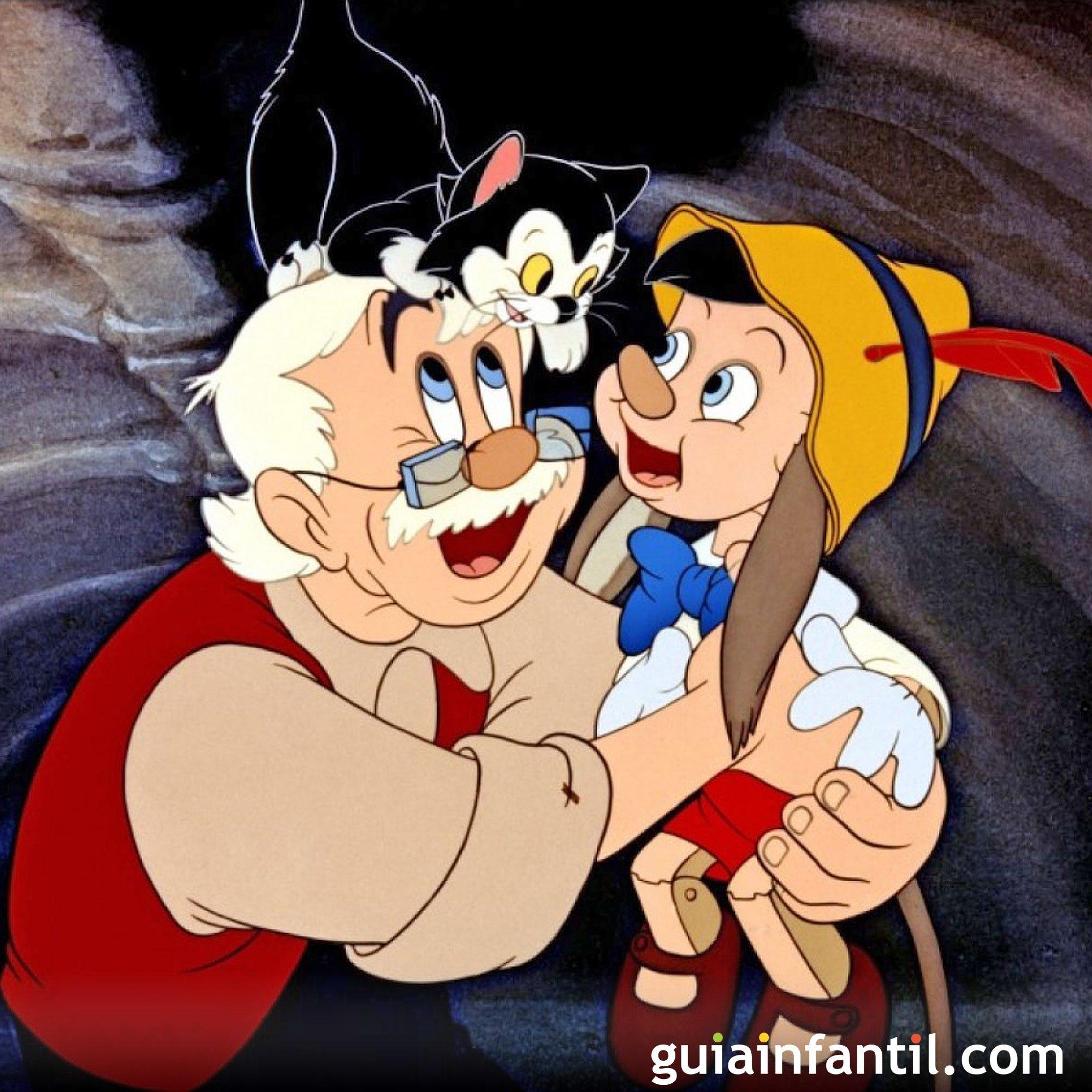 Pinocho. Clásico de Disney sobre los papás
