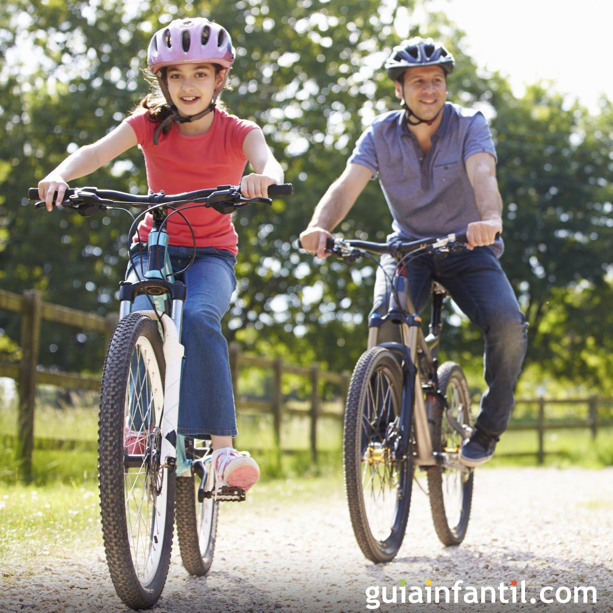 Dar un paseo en bici con tus hijos