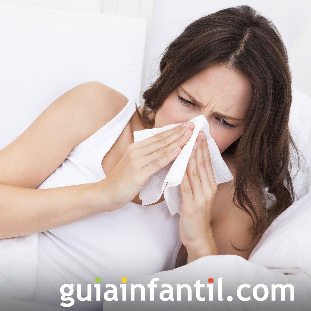 Congestión nasal. Molestias del embarazo