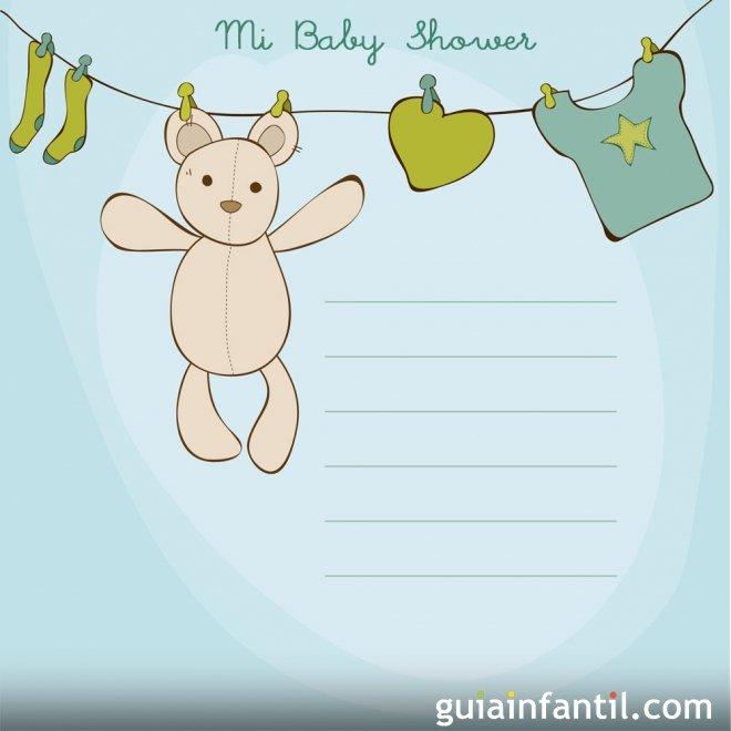 Invitación De Baby Shower Para Niño