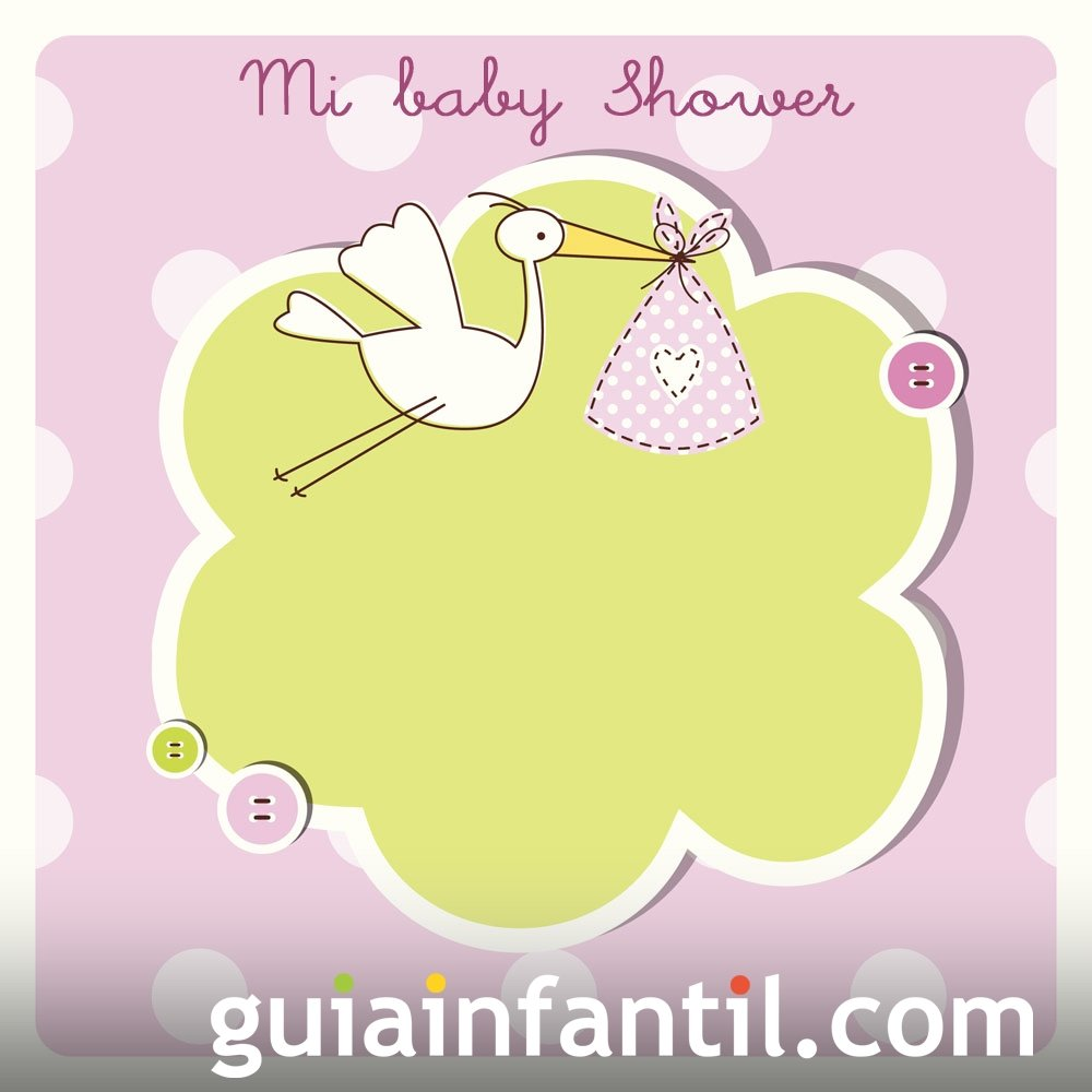Baby Shower. Invitación a la fiesta de una niña