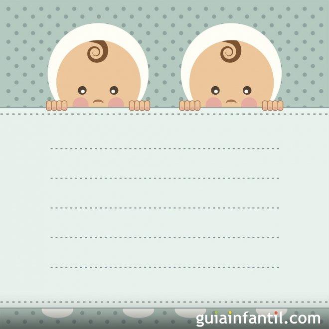Invitación De Baby Shower Para Gemelos