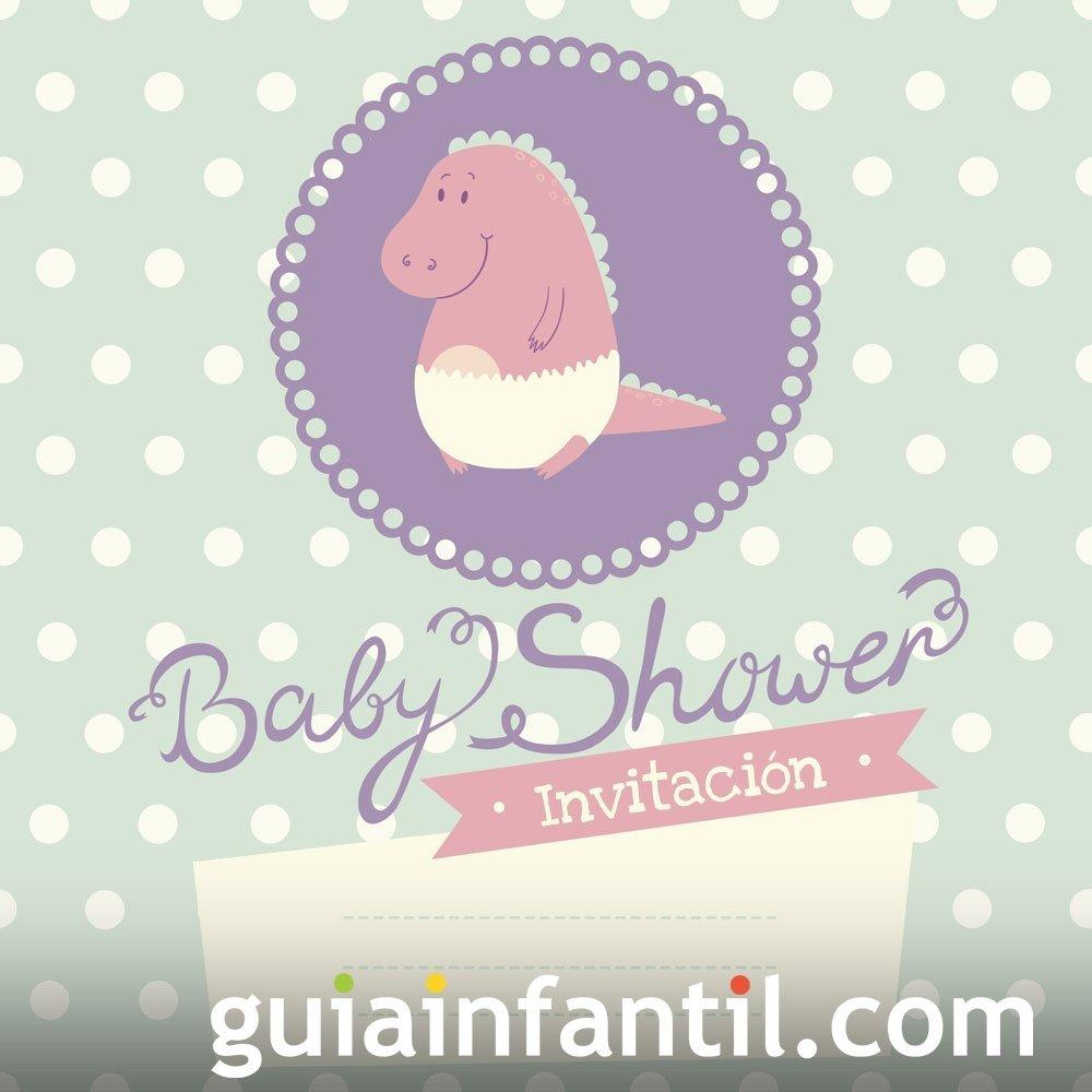 Invitación tierna de niña para una Baby Shower