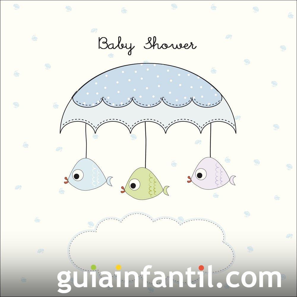 Invitación sencilla para Baby Shower de niño