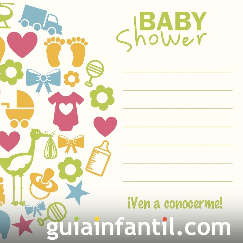 Baby Shower moderna. invitaciones de fiesta