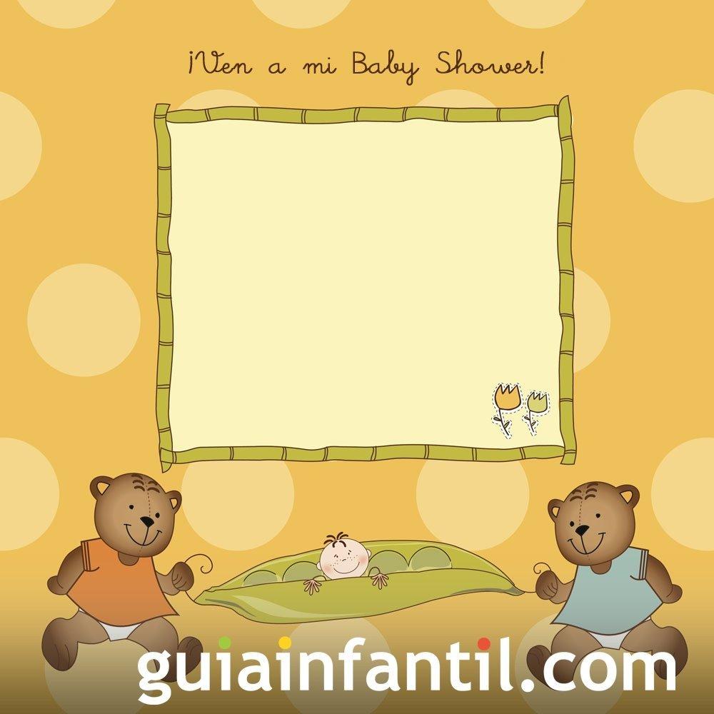 Invitación tierna para una fiesta Baby Shower
