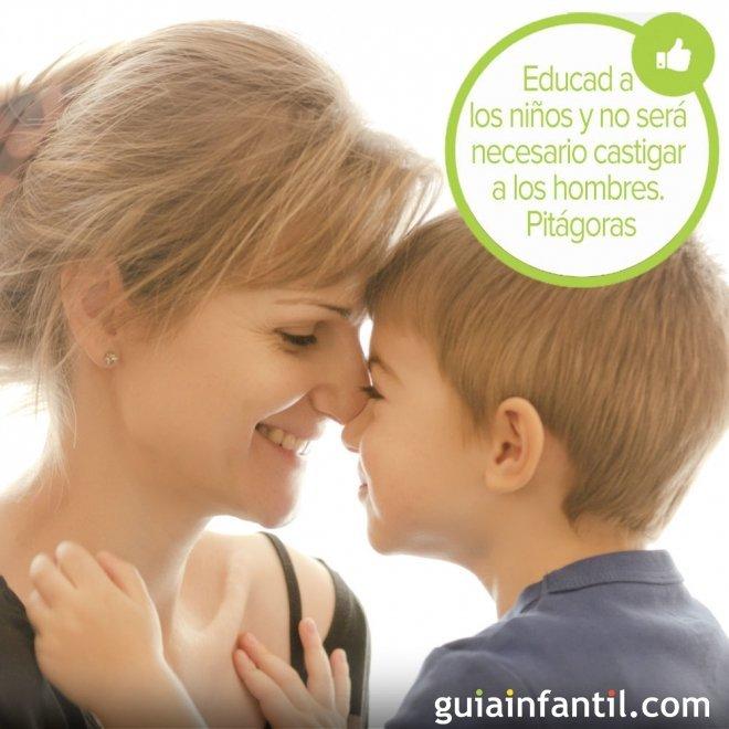 Frase de Pitágoras para educar a los niños