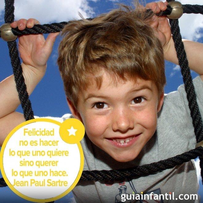 Frase célebre sobre la felicidad para educar a los niños