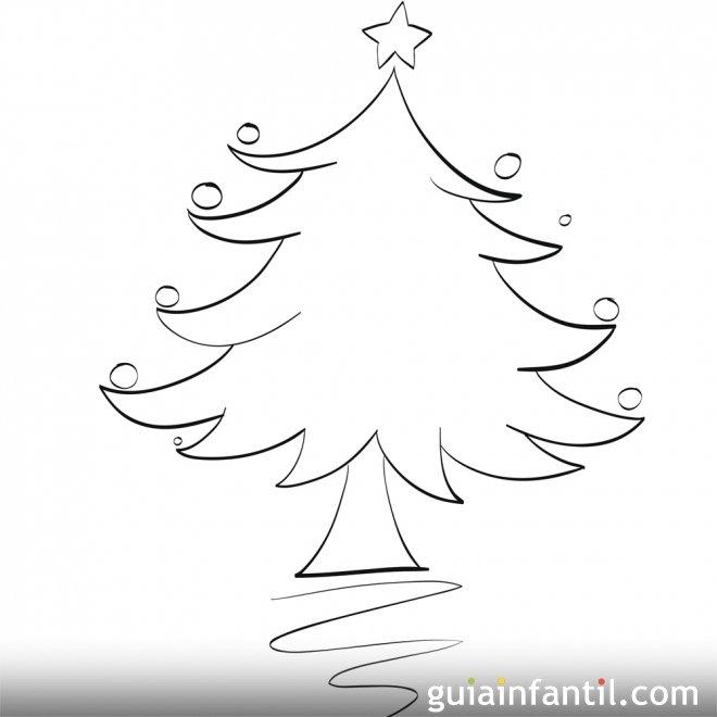 dibujo de rbol de navidad para colorear dibujos de rboles de