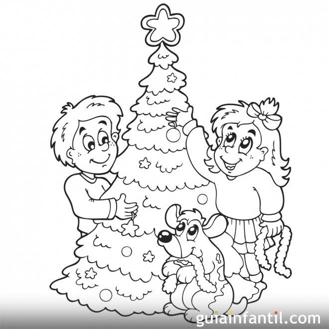Rbol de navidad para pintar y decorar dibujos de - Ver arboles de navidad ...