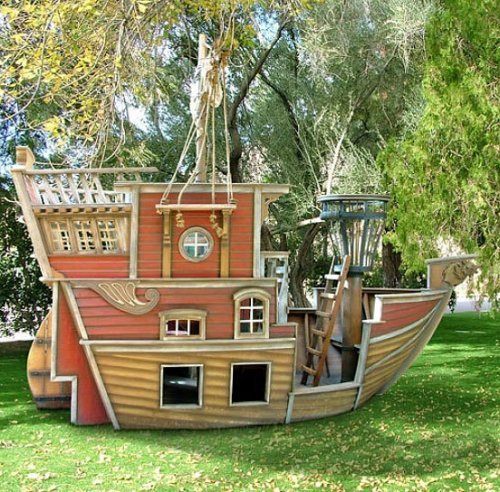 Casita de jardín Barco Pirata