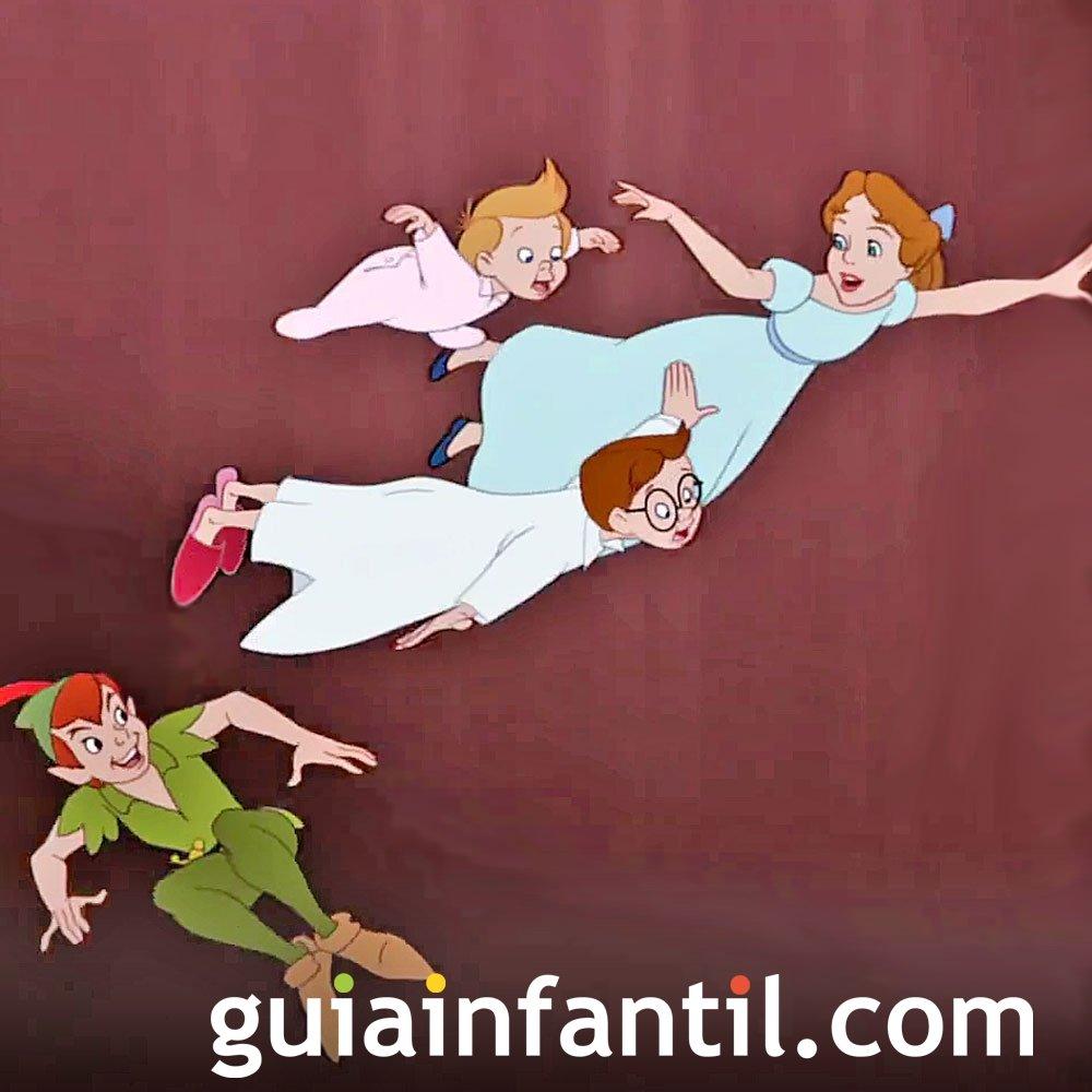Peter Pan. Wendy los hermanos Darling