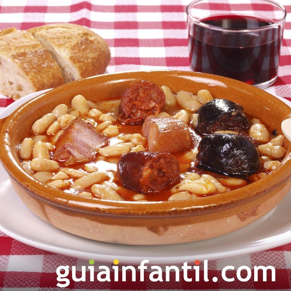 Fabada asturiana para niños