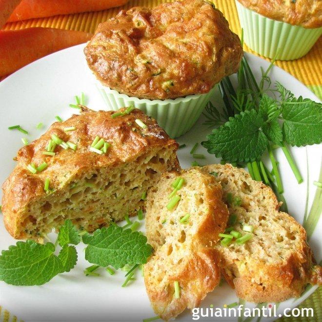 Muffins de calabacín para niños