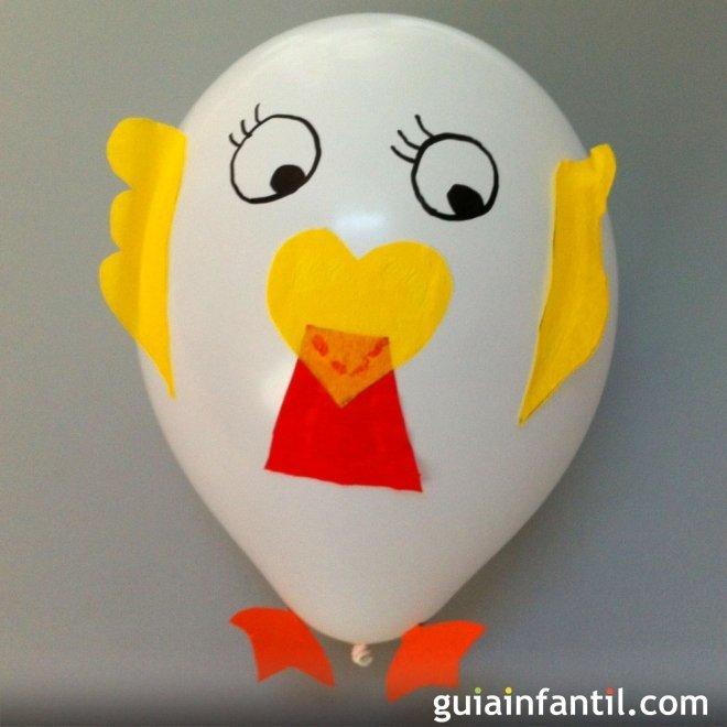 Cómo hacer una gallina con un globo