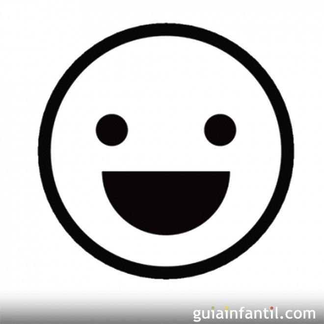 Dibujo para pintar de una cara feliz  Dibujos de caras de