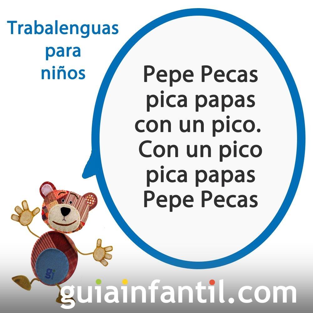 Trabalenguas para niños con la P de Pepe