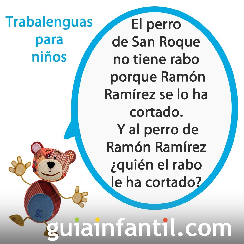 Trabalenguas de Ramón Ramírez para niños