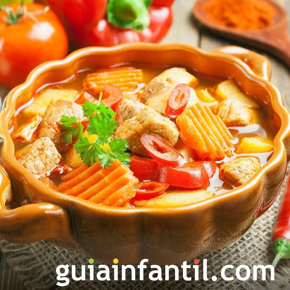 Sopa de verduras con jamón de la abuela