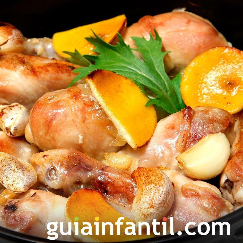 Pollo al ajillo de la abuela