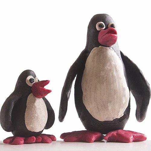 Cómo hacer pingüinos de plastilina