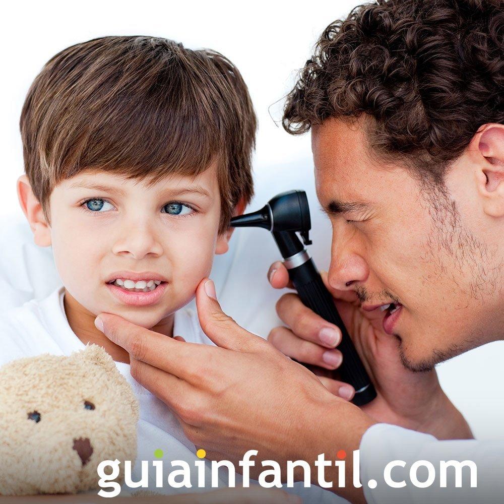 Revisa los oídos de tu hijo