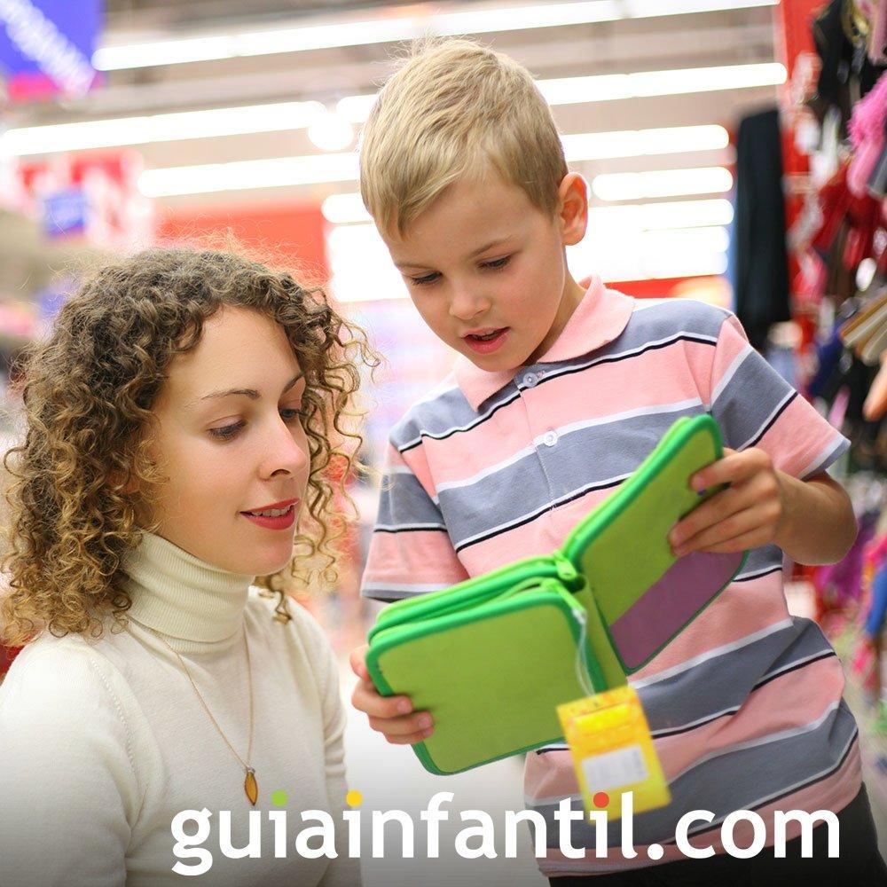 Prepara el material escolar con tus hijos