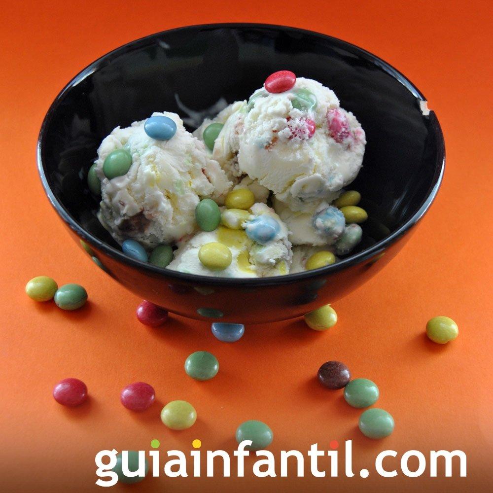 Receta de helado de yogur con lacasitos