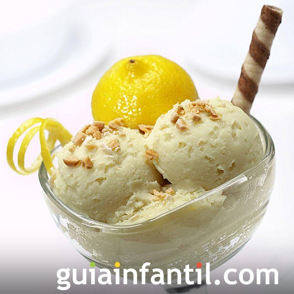 Receta de helado casero de limón para niños