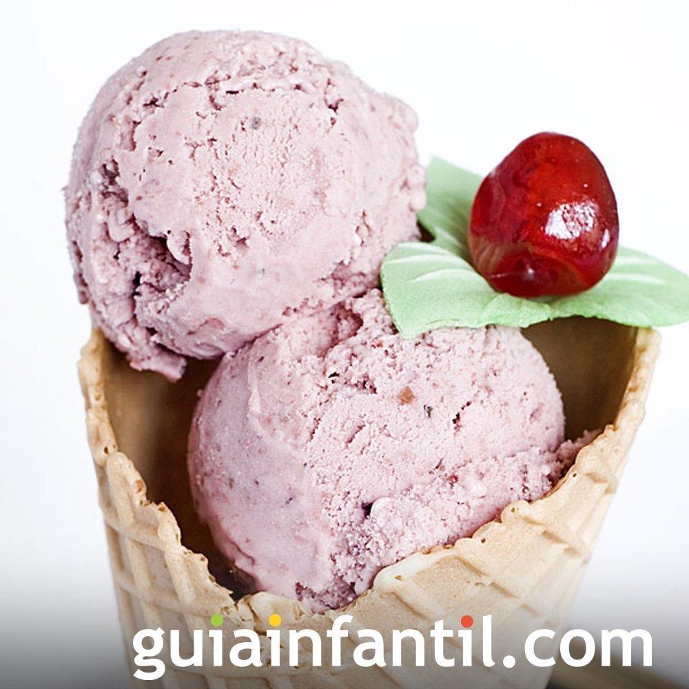 Receta de helado casero de cerezas